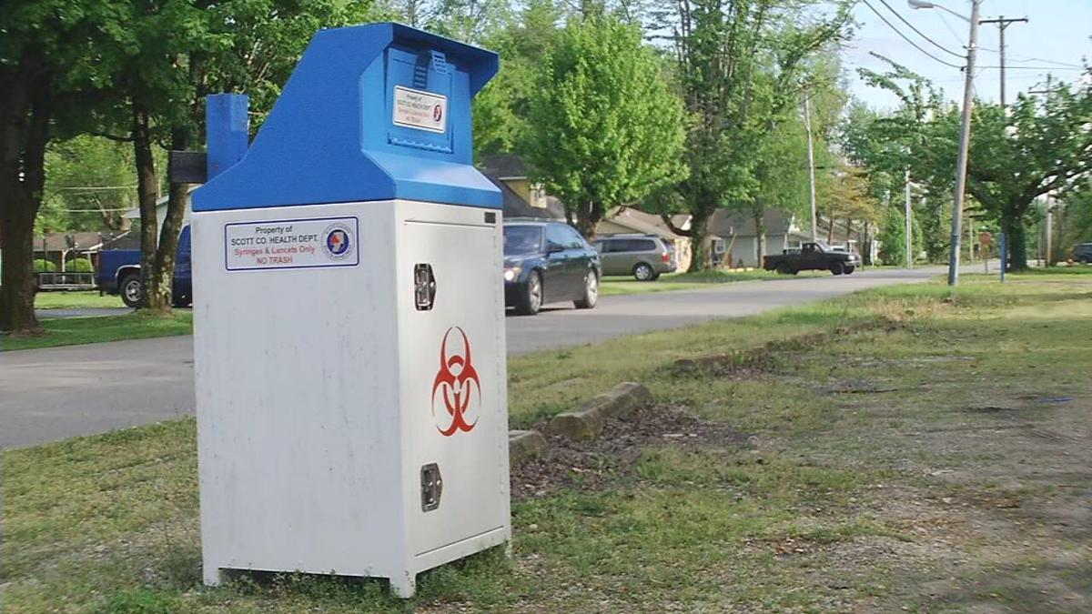 Syringe boxes in Scott County