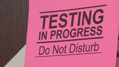 Testing in Progress - Do Not Disturb sign