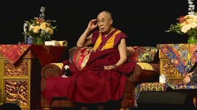 The Dalai Lama and Lady Gaga visit Indianapolis
