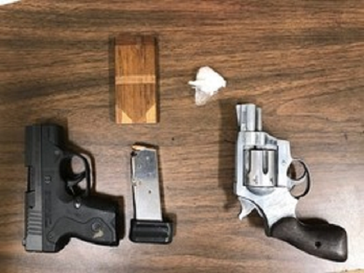 Guns and meth from Indiana State Police stop
