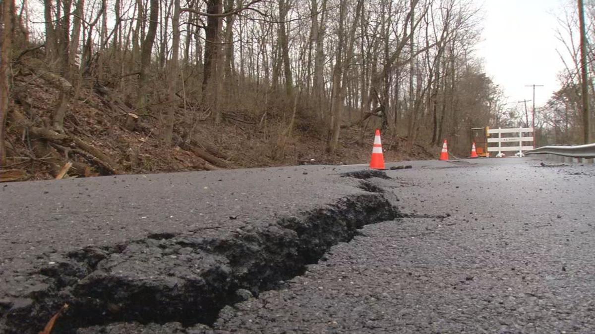 Old Vincennes Road - damage