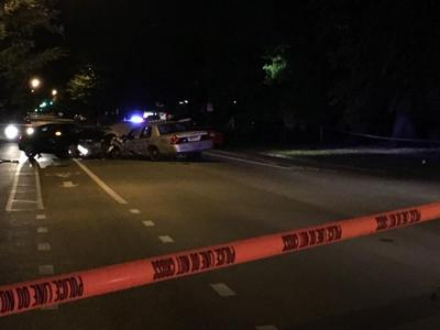 LMPD officer rushed to hospital after wreck in West Louisville