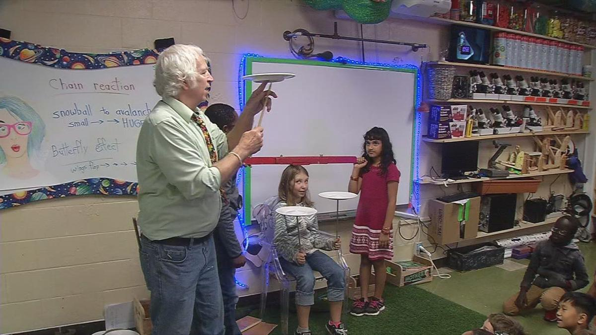 "JCPS STEAM teacher gets attention with ""back to the future"" approach"