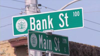 main and bank streets
