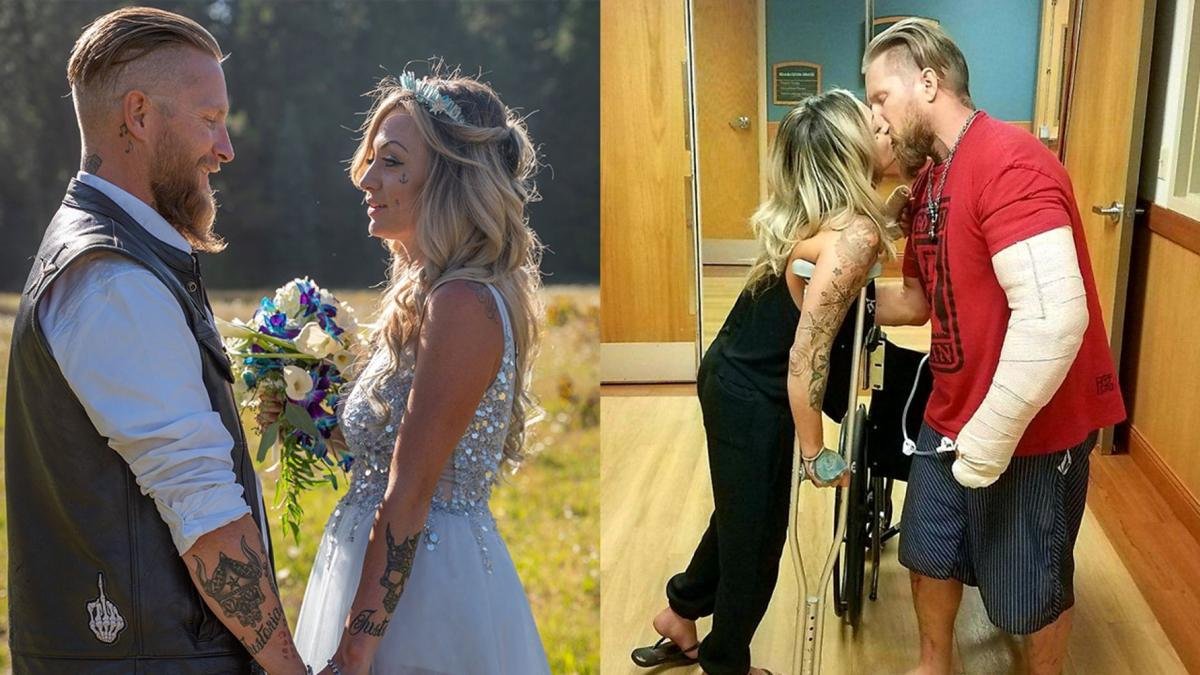 Biker Couple - Justin Reid and Victoria Hemenes