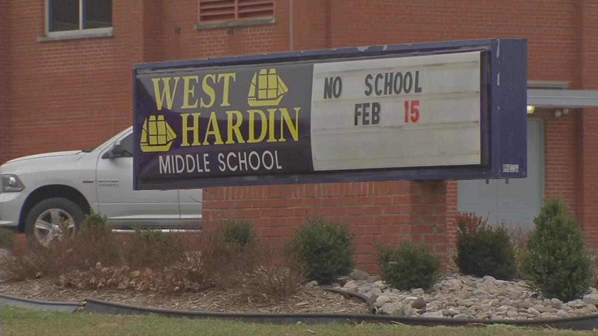 West Hardin Middle School sign