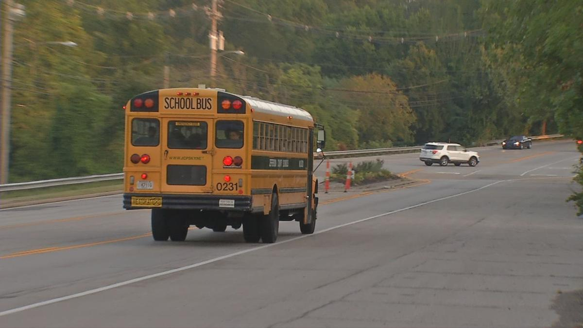 Speeding buses on the first day of school