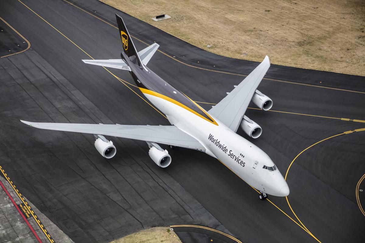 New UPS Jet on runway