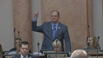 Angry Jeff Hoover says effort to have him expelled from Ky. House is politically motivated