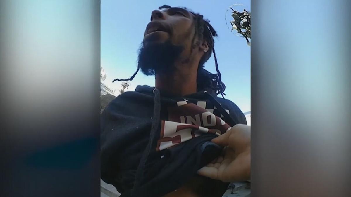Jermaine Vaught, a homeless man