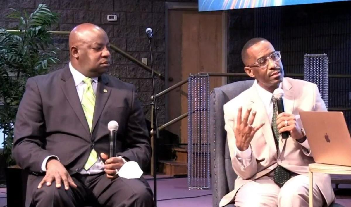 Dr. Kevin Cosby speaks at St. Stephen Baptist Church.JPG