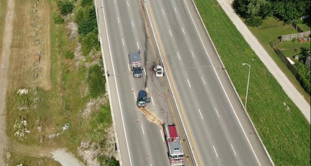 Skycam I-64 fatal vehicle fire