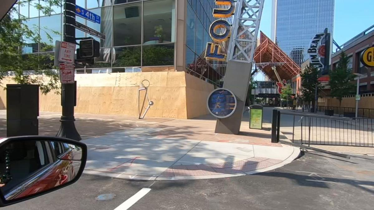 Fourth Street Live! boarded up after May 2020 unrest