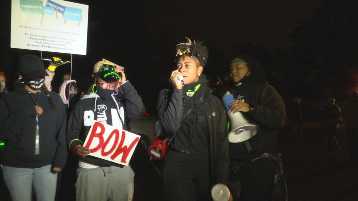 Protesters gather near KY AG Daniel Cameron's home in east Louisville