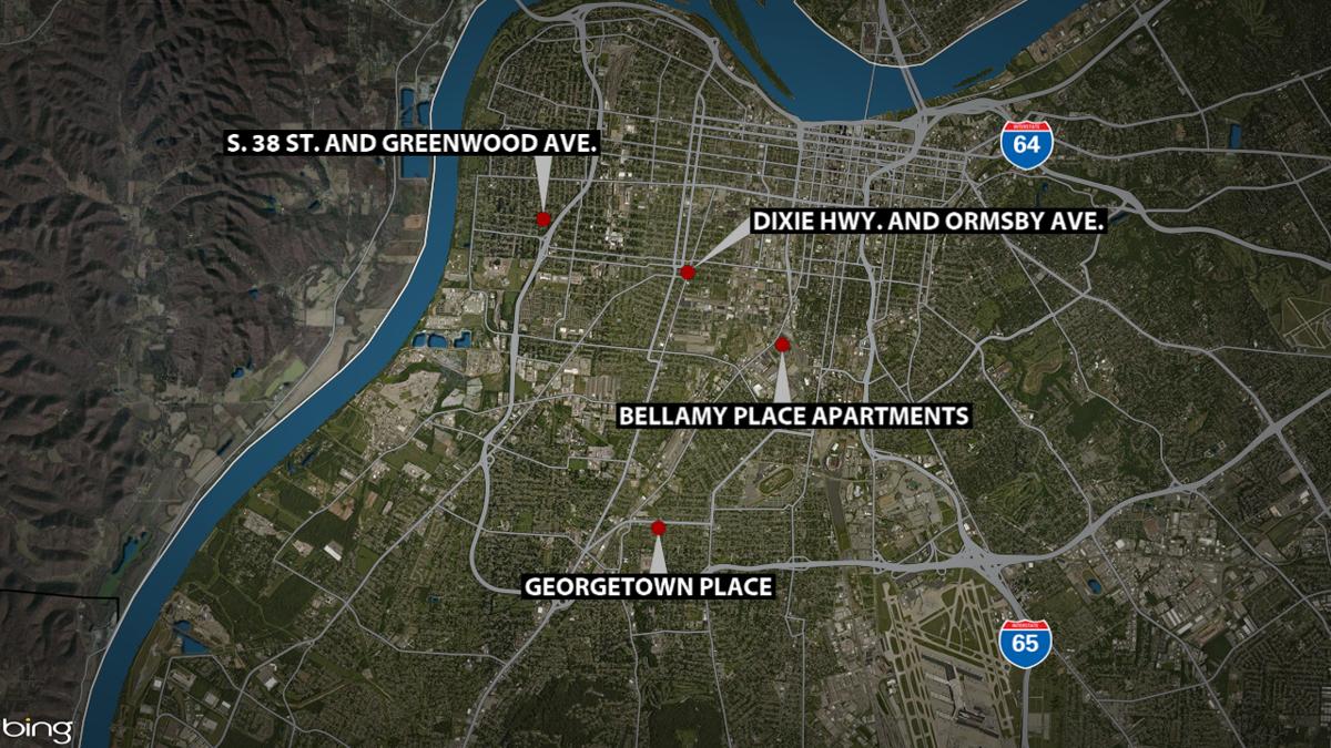1 killed, 9 hurt in rash of weekend shootings in Louisville