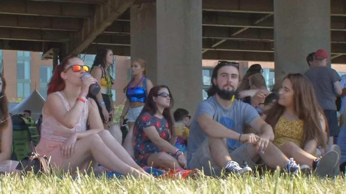 Attendees at Waterfront Park for the Forecastle Festival
