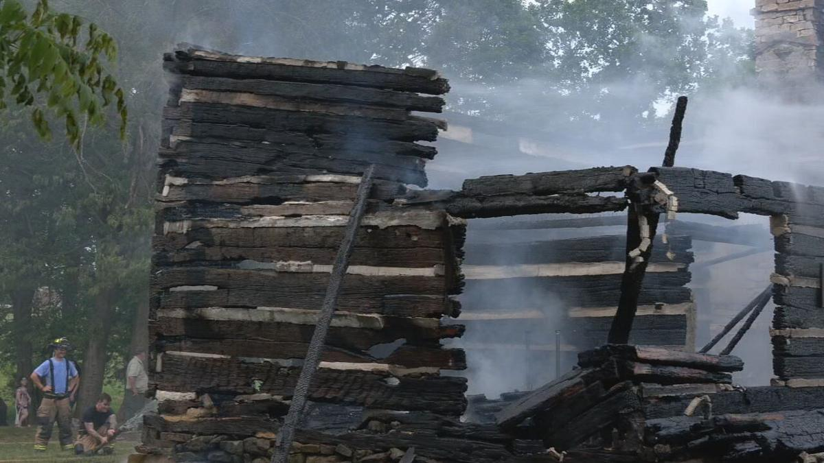 Cabin at George Rogers Clark historic site fire 17.jpeg