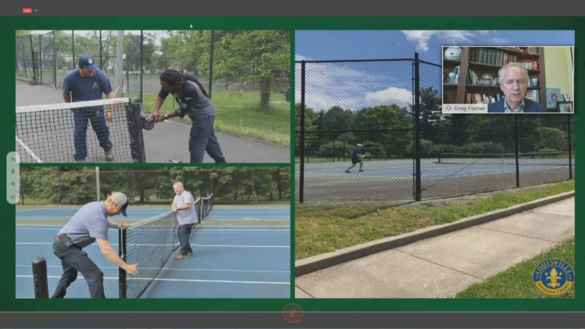 Nets being added to Louisville tennis courts
