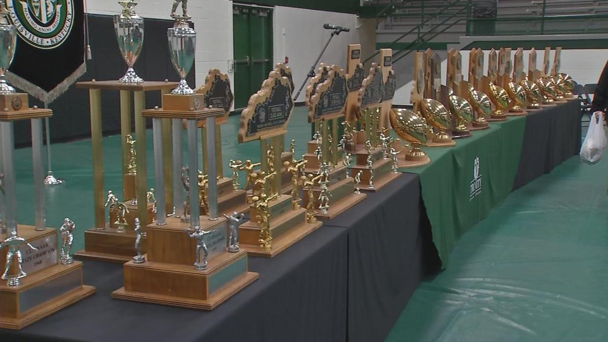 TRINITY TROPHIES - 26 years of trophies on display