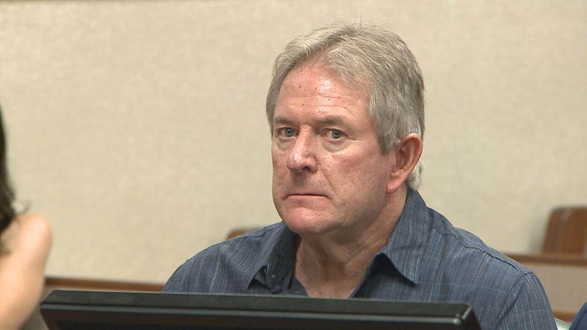 Roger Burdette appears in court for a pre-trial conference on Friday, June 11, 2021
