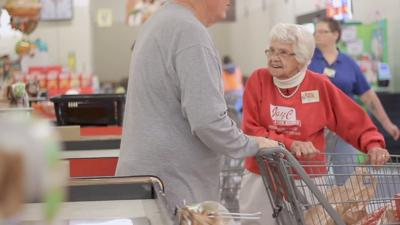 99-year-old Kroger employee brings smiles to customers in Scottsburg