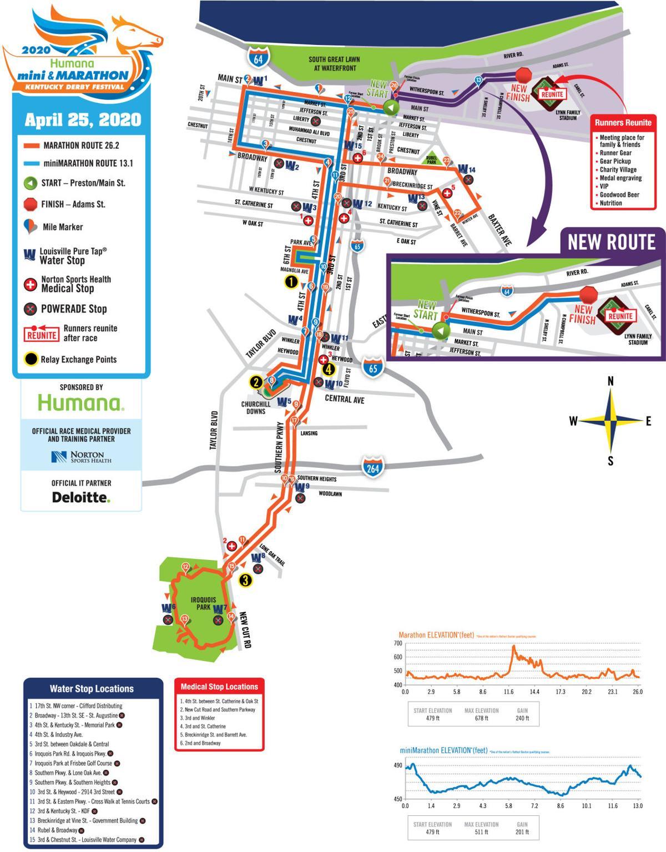 KDF marathon finish line moving