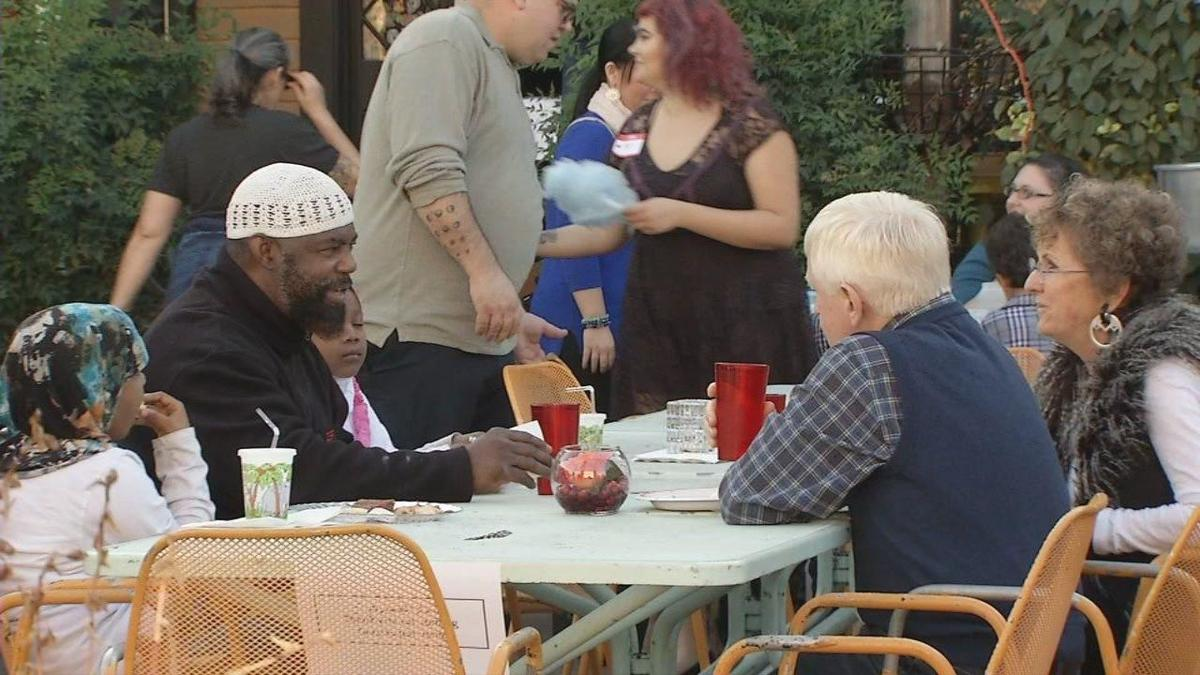 'The Big Table' potluck in Iroquois Park (Sept. 2017)