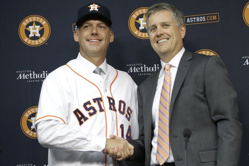 Jeff Luhnow and A.J. Hinch