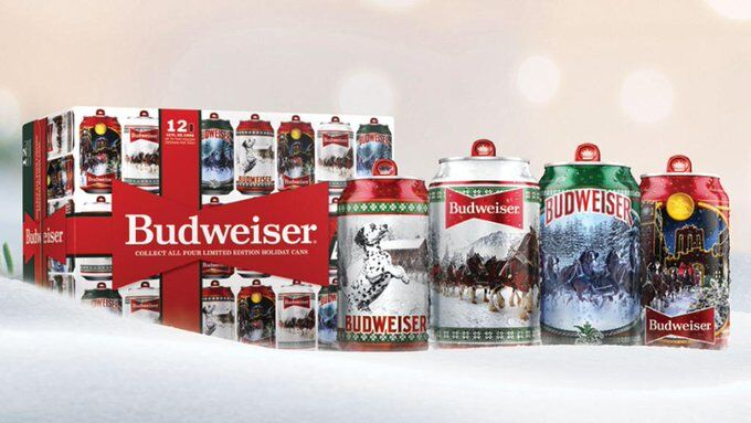 Budwizer Christmas Ad 2020 Budweiser unveils '2020 Holiday Limited Edition Stein Cans