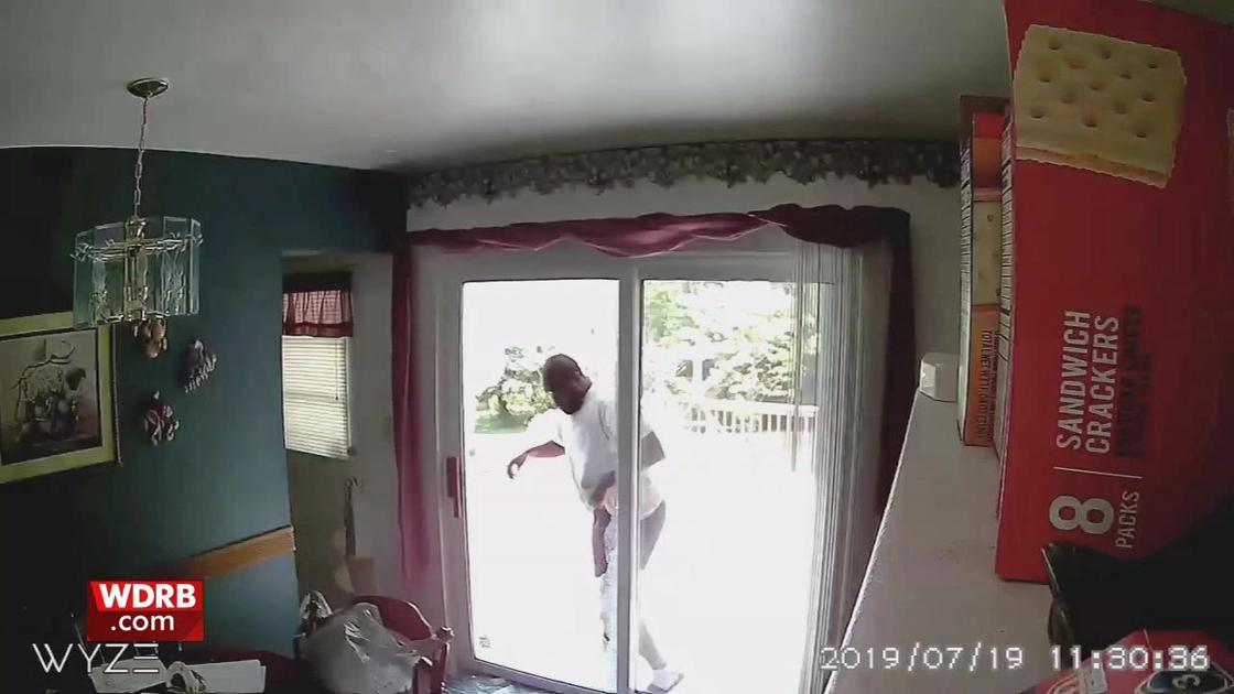 Thieves smash back door with cinder block and steal gun in