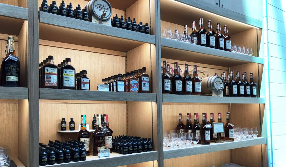 Old Forester distillery interior shelf