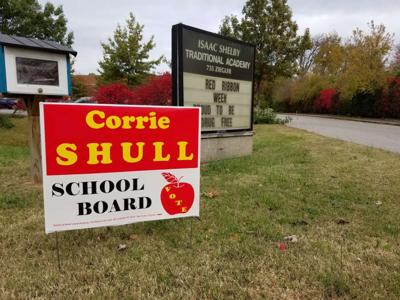 Signs for school board candidate removed from Shelby Traditional