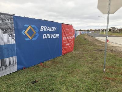 Braidy Industries site fence 11-5-19
