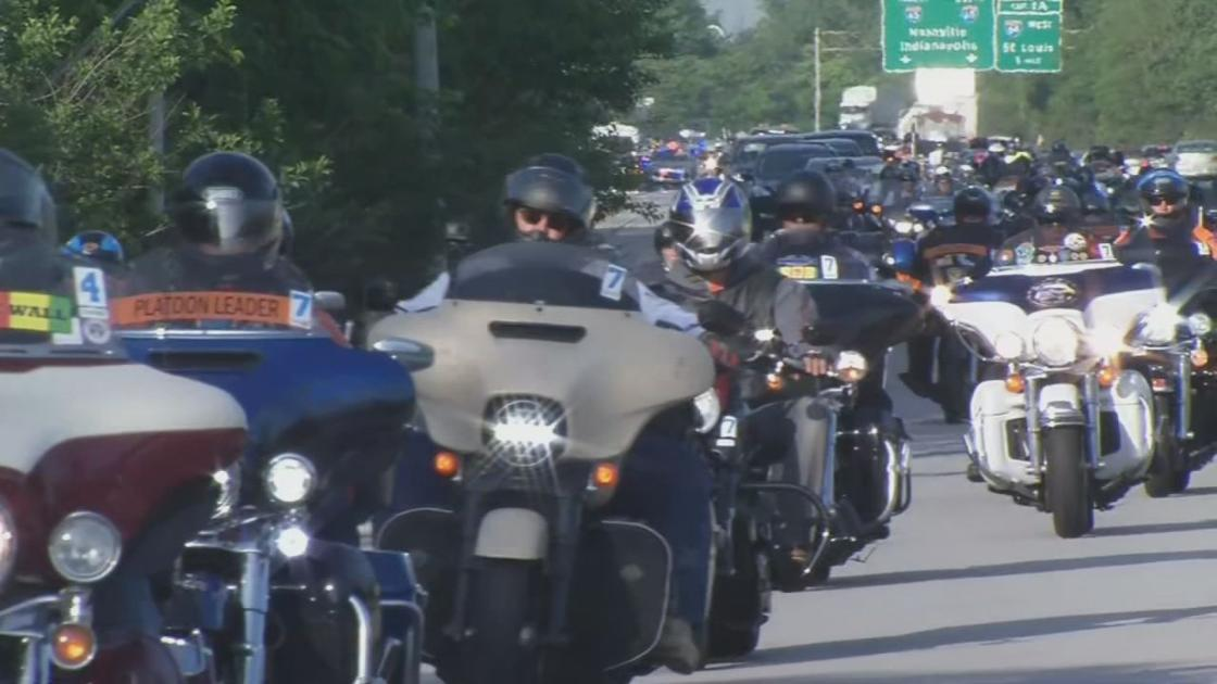 Hundreds of veterans visit Robley Rex VA during annual 'Run for the Wall' ride