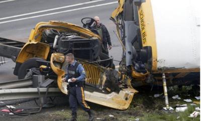 2 killed, 43 injured in New Jersey crash involving school bus, dump truck
