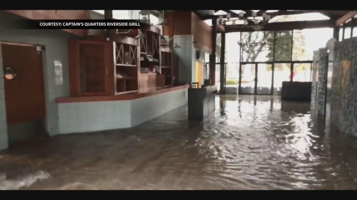 Captains Quarters intentionally flooded