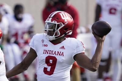Indiana quarterback Michael Penix Jr. throws