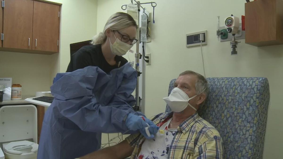 Tony Babbs in cancer treatment