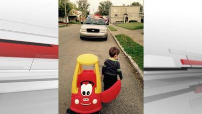 PHOTOS: LMPD officer 'pulls over' young driver
