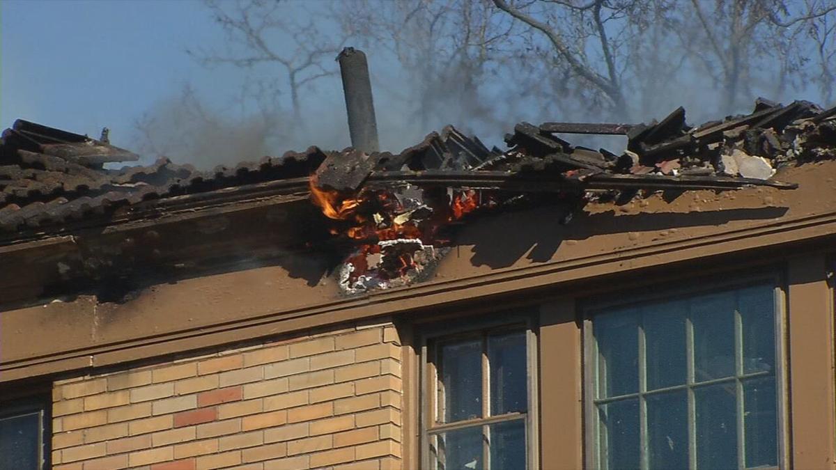 Brownsboro Road Fire Flames in attic