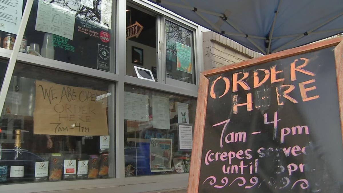 Safai Coffee serves customers through walk-up window