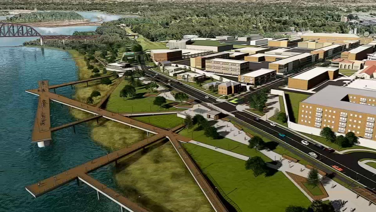 Clarksville Downtown Rendering - Aerial View