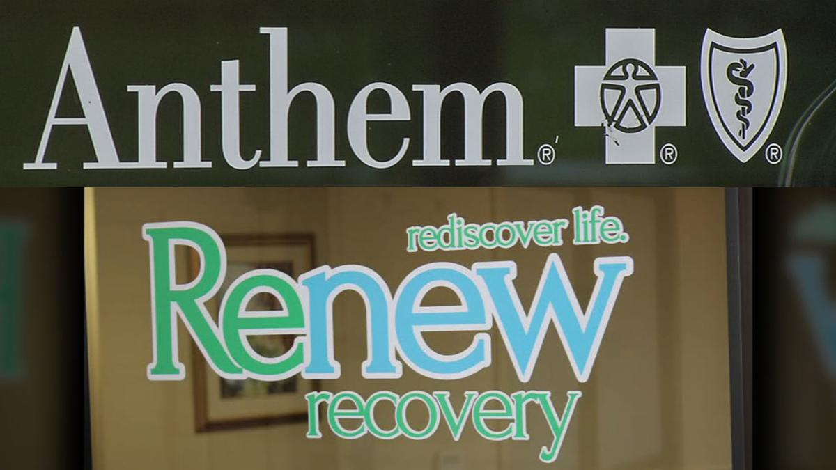 Anthem BC/BS logo and Renew Recovery logo
