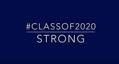 Class of 2020 video cue card