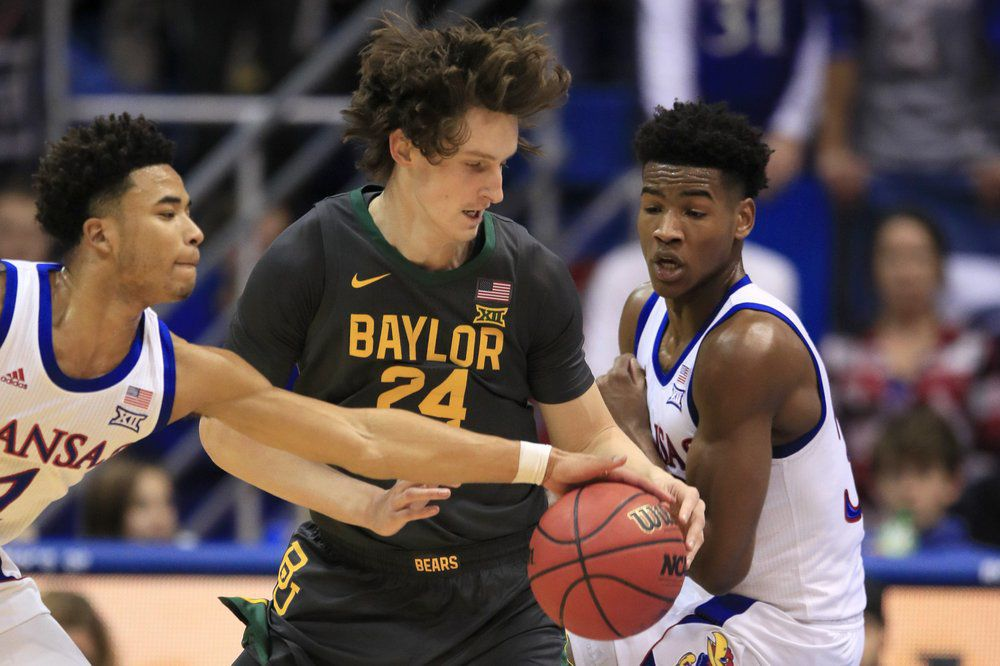 No. 4 Baylor tops No. 3 KU 67-55 for first win in the Phog