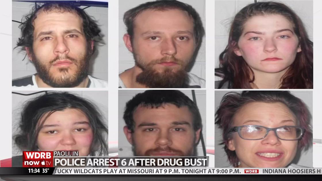 6 people arrested after drug bust in Paoli, Indiana | Wdrb-video