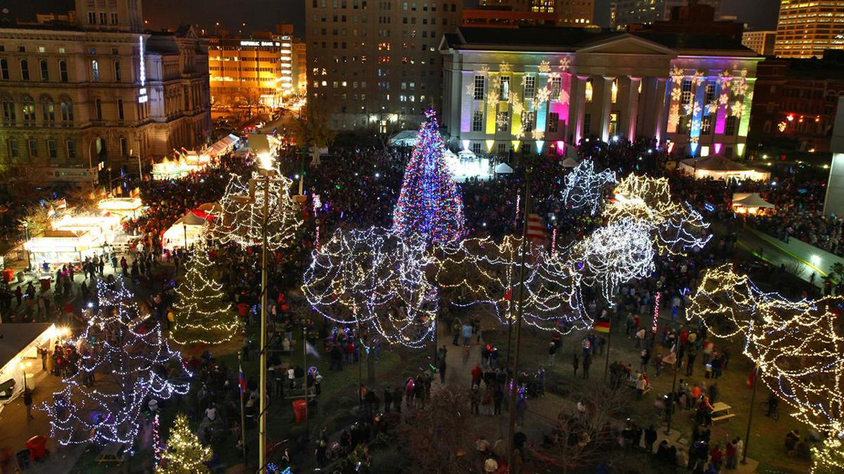 Light Up Louisville Aerial View