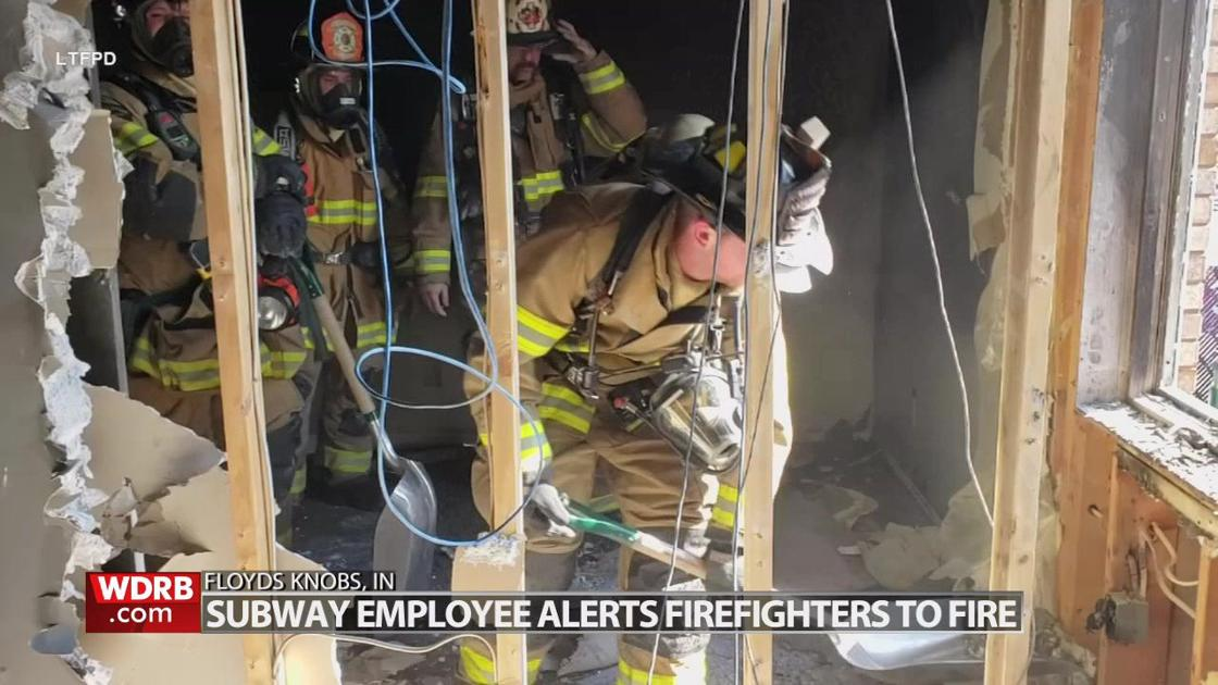 Firefighters say employee's quick thinking may have saved