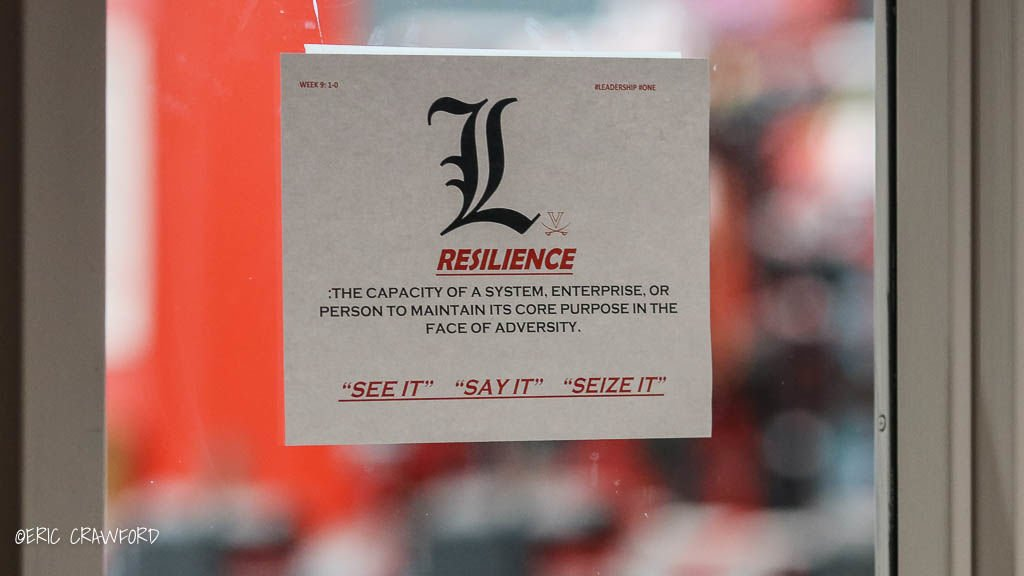 Sign in Louisville football complex