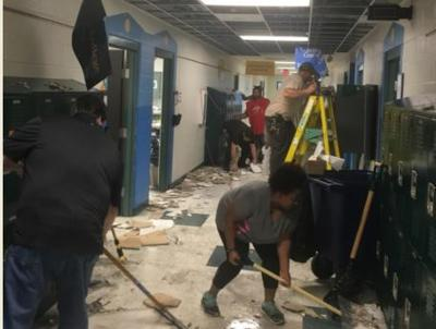 Team effort after weekend flood prevents Foster Elementary from canceling classes